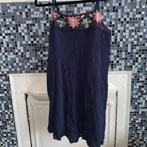 American Eagle spaghetti straps blue summer dress